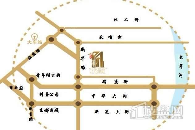 建发北尚华庭交通图