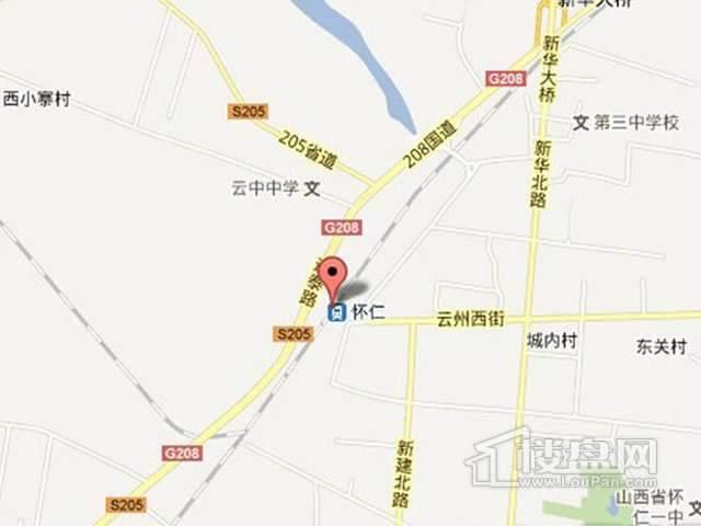 红豆清华苑交通图