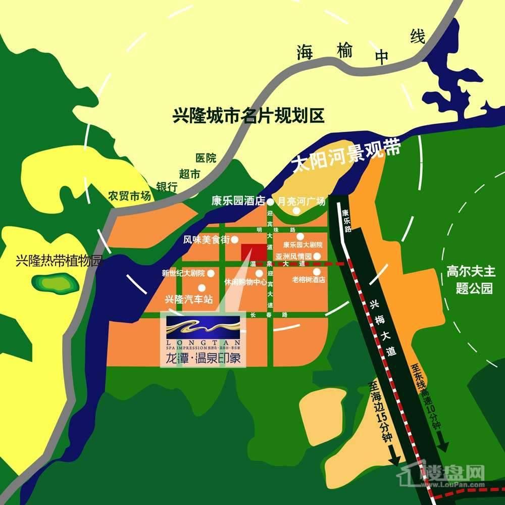 龙潭温泉印象交通图