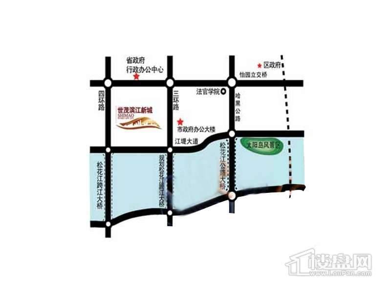 世茂滨江新城交通图