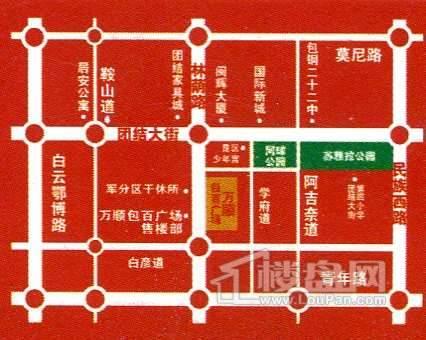 万顺·包百广场位置图