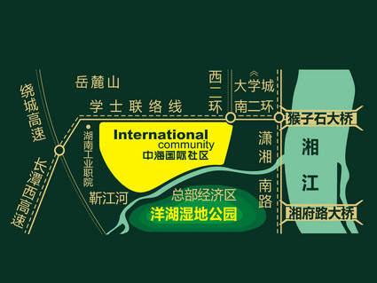 中海国际社区位置图
