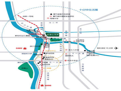 珠江花城位置图