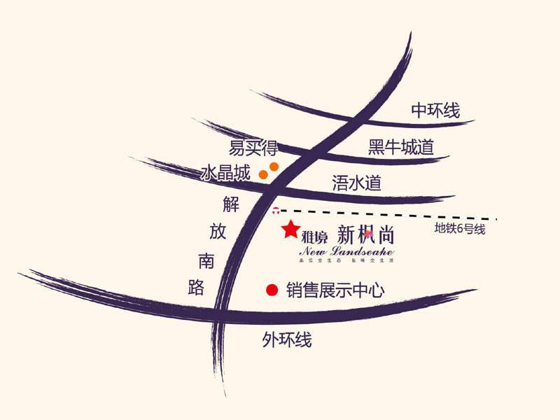 新梅江雅境新枫尚位置图