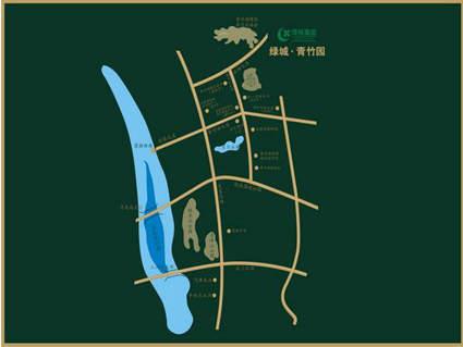绿城青竹园位置图