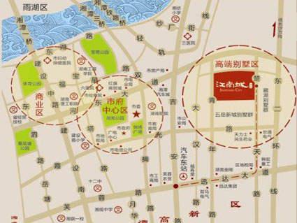 宝安•江南城位置图