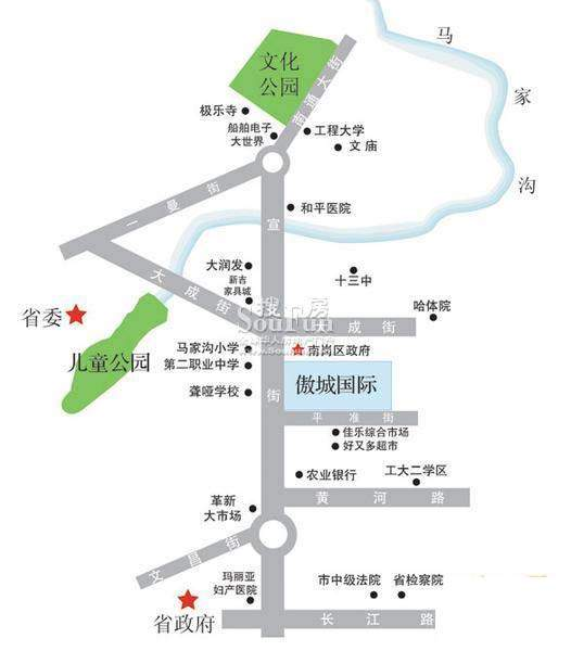 傲城国际位置图