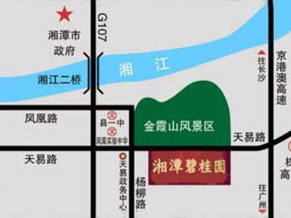 湘潭碧桂园位置图
