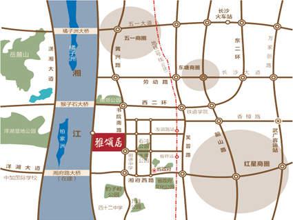 湘江雅颂居位置图