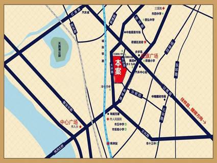 中铁建•荷塘星城位置图