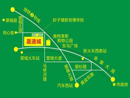 晟通城位置图