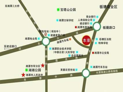 云盘香郡二期位置图