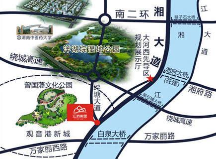 华苑(江滨家园三期)位置图
