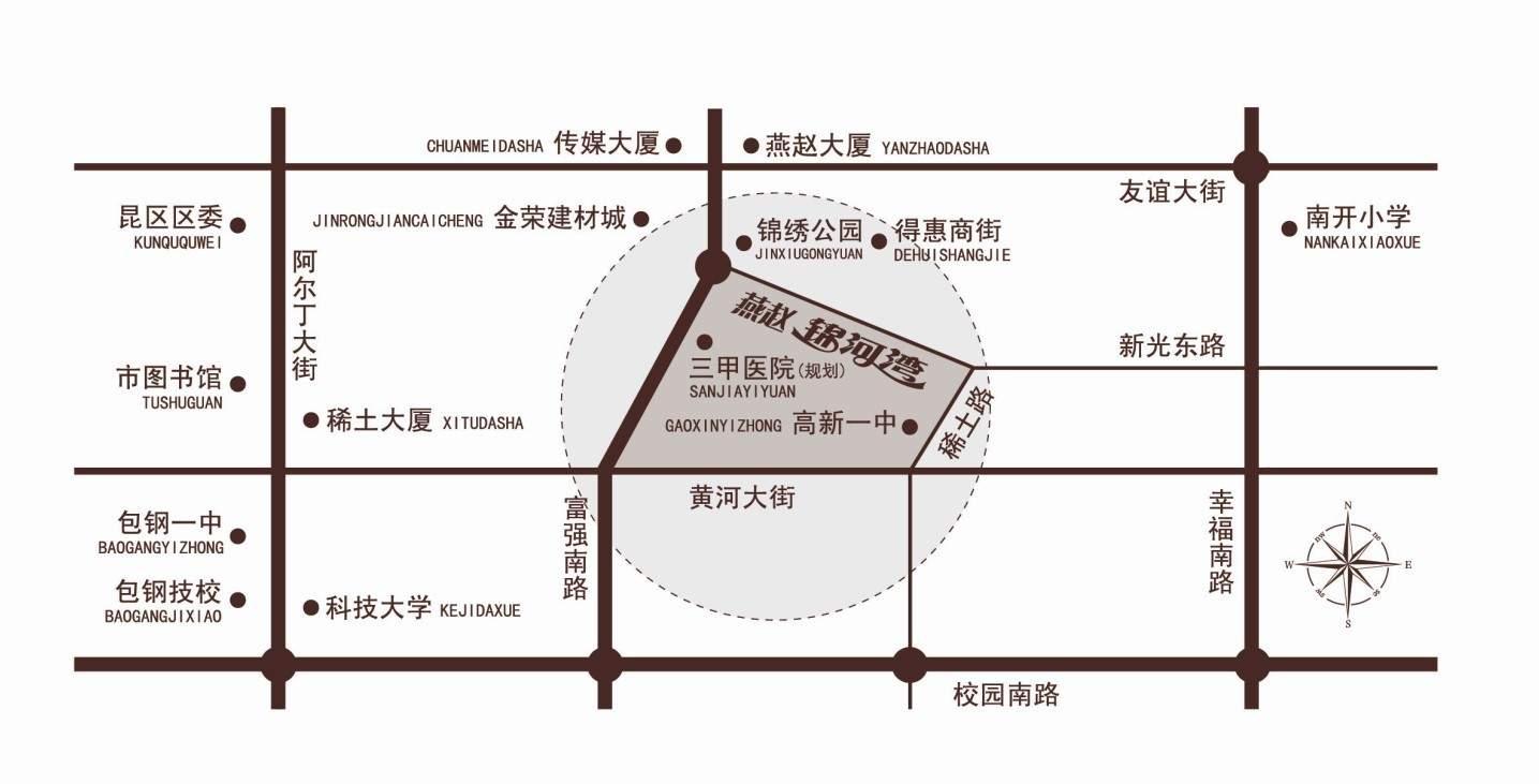 燕赵锦河湾位置图