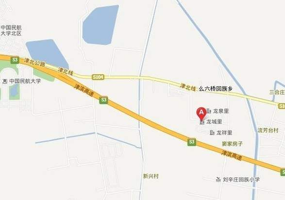 港城温泉花园龙城里位置图