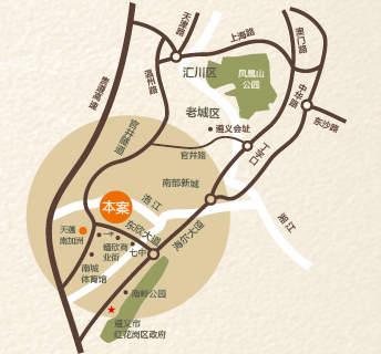 隆鑫·港湾国际-滨江商业街位置图