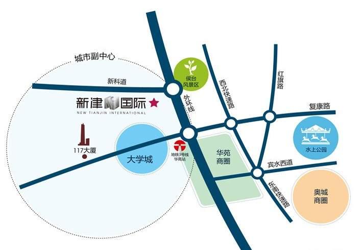新津国际位置图