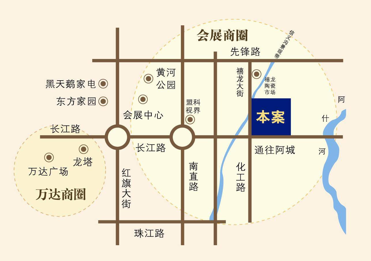 尚东辉煌城位置图