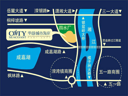 华韵城市海岸二期位置图