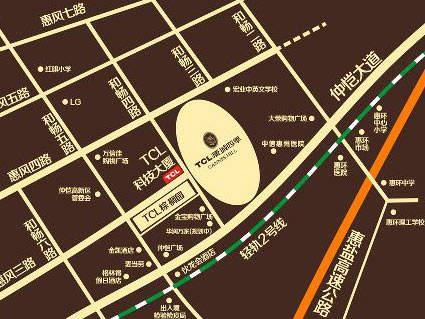 TCL康城四季位置图
