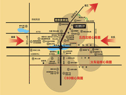 三盛国际公园位置图