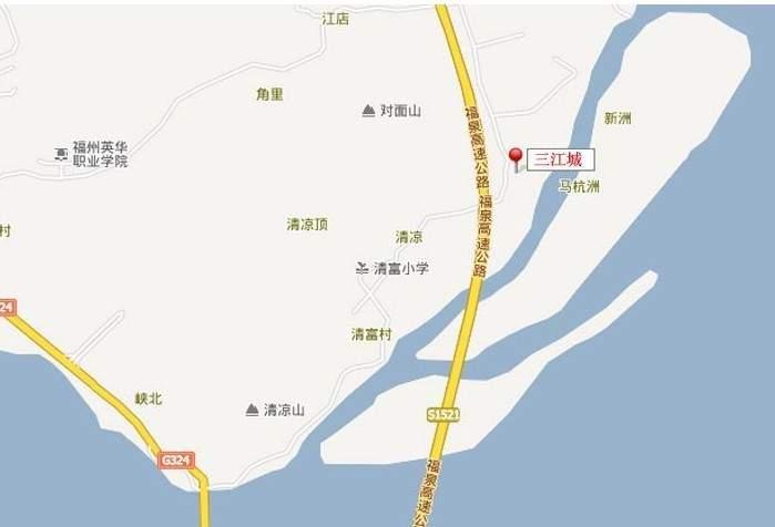 三江城位置图