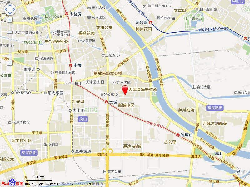 天津湾海景文苑位置图