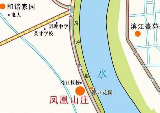凤凰山庄位置图