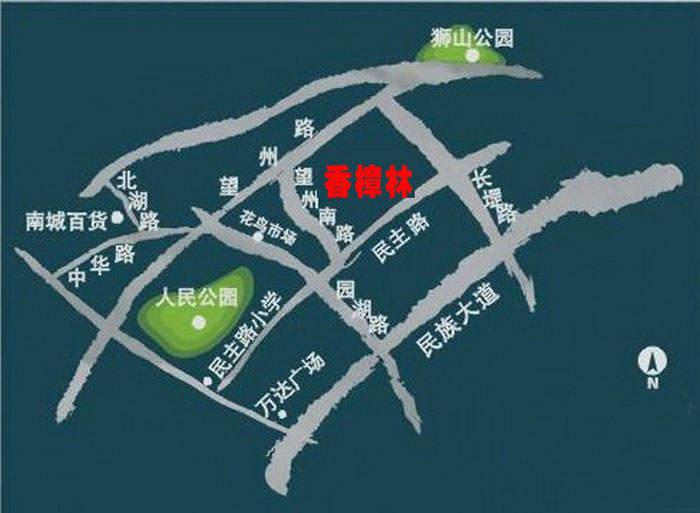 香樟林位置图