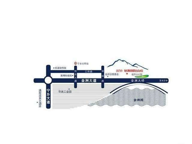 蓝月谷裕源国际山庄位置图