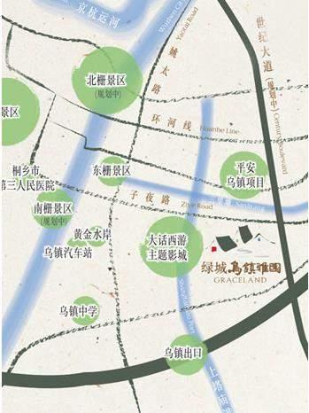 绿城乌镇雅园位置图