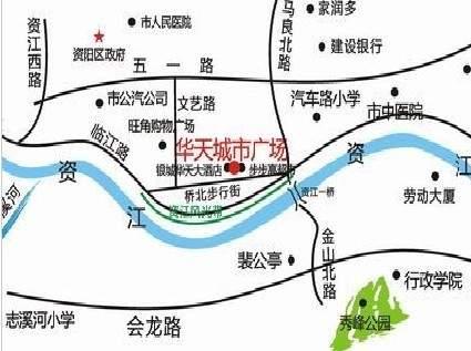 华天城市广场位置图