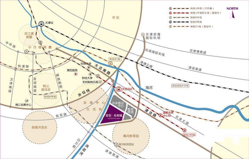 首创城位置图