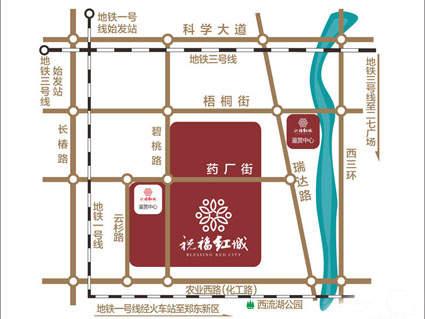 祝福红城位置图