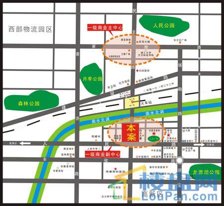 锦江·现代城位置图