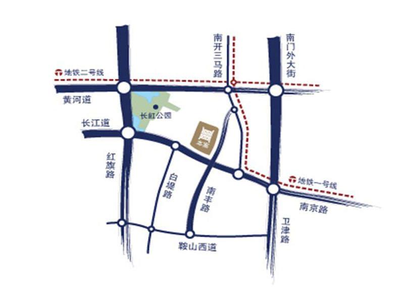 宝利国际广场云观公寓位置图