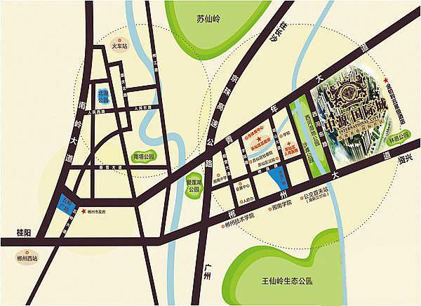 奥园•中源国际城位置图