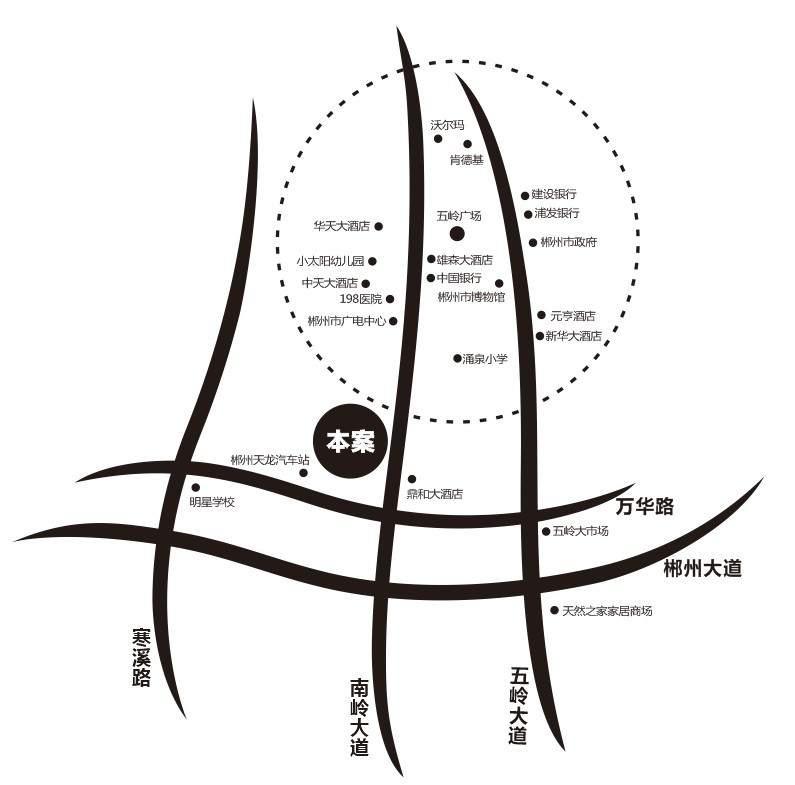 五矿青园位置图