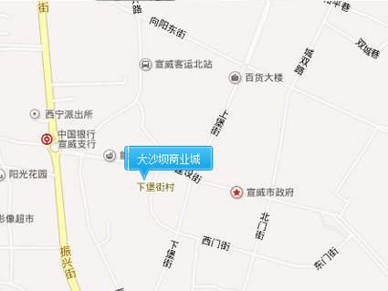 大沙坝商业城位置图