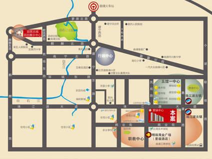 宜居北城位置图