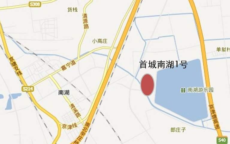 首城南湖1号位置图