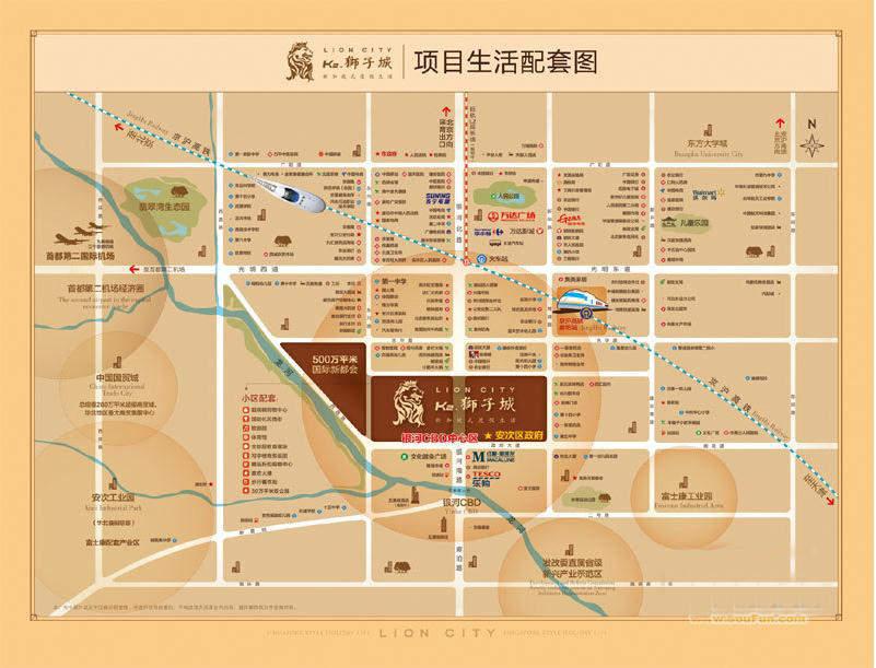 K2·京南狮子城配套图