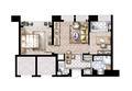 莫奈公寓B户型67平米
