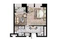 莫奈公寓A户型50平米