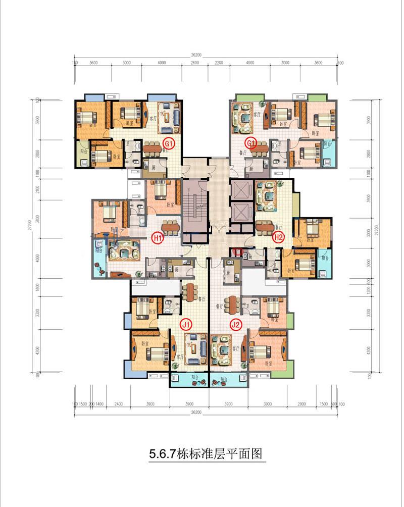 弘欣公寓户型平面图