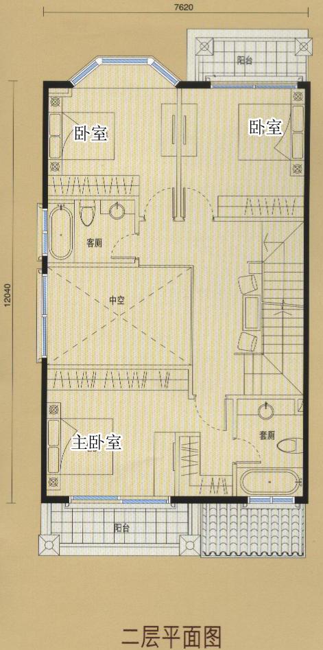 双拼别墅二层