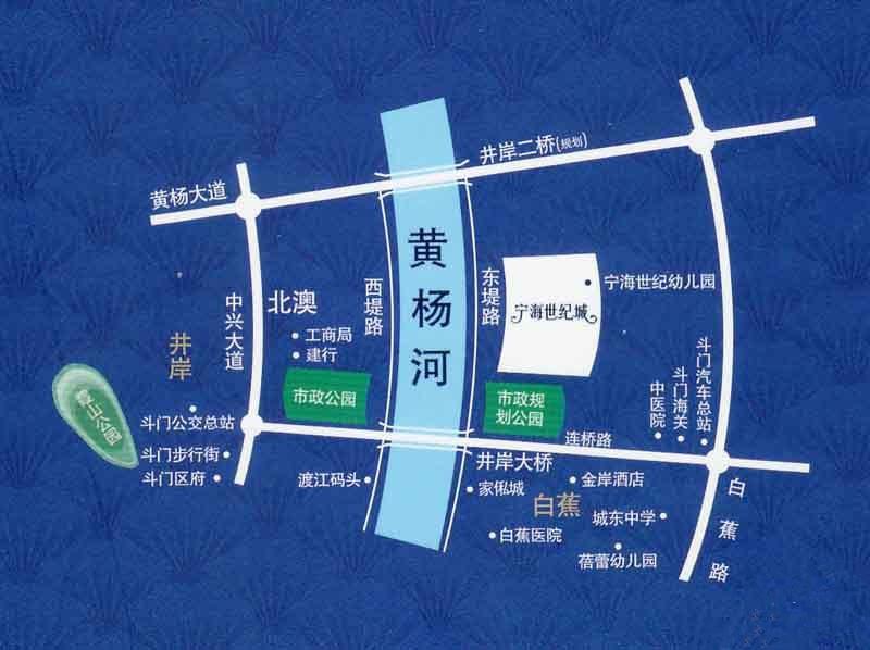 宁海世纪城三期位置图