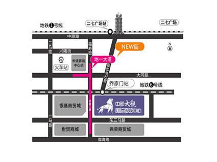 中部大观国际商贸中心位置图