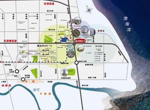 滨海财富广场位置图