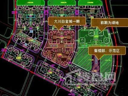 大川白金城商铺位置图